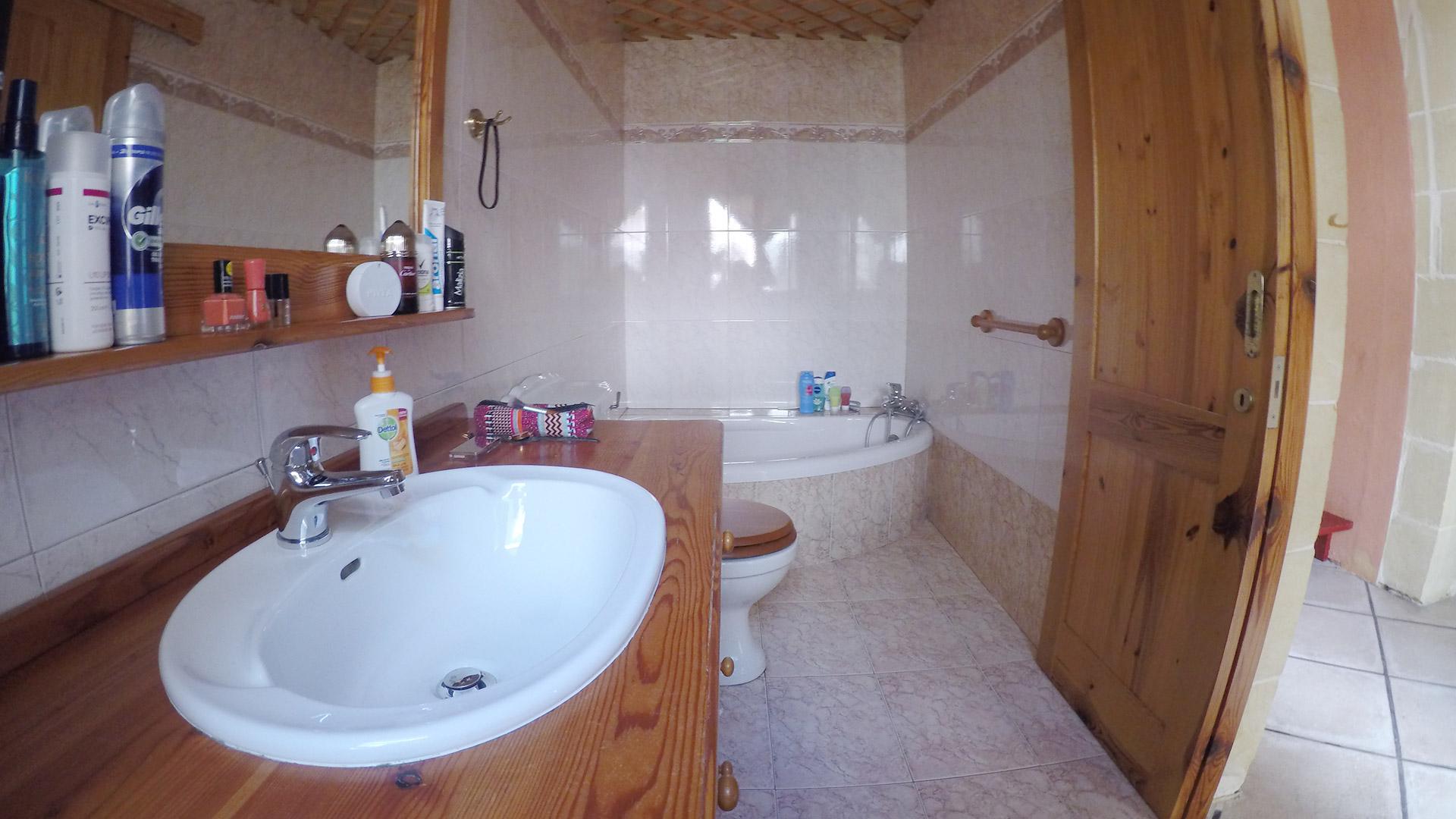First bathroom Gozo Vacation